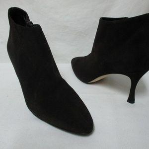 Manolo Blahnik suede heeled boots NEW 36.5   6.5